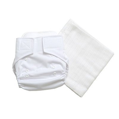 Pocket nappy and cotton gauze insert